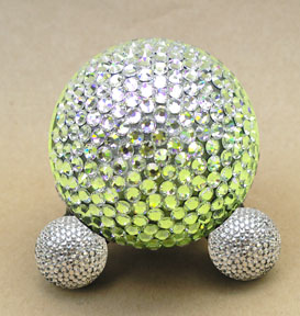 swarovski crystal pet urn in green
