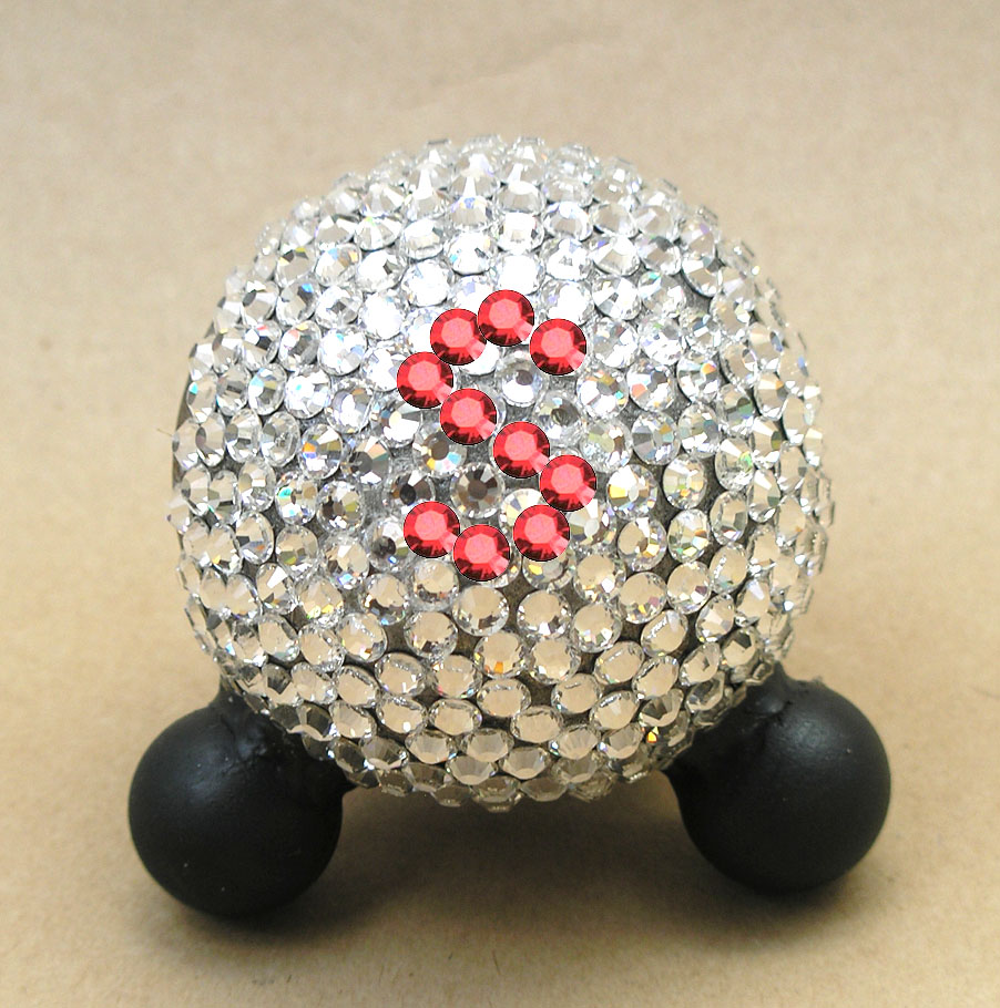 swarovski crystal pet urn in crystal
