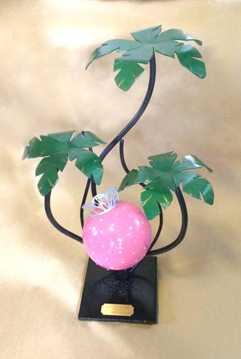 custom bling palm urn