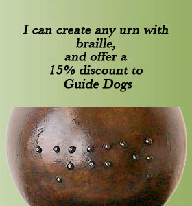 braille pet cremation urn name