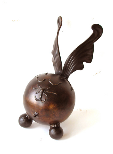 winged pet urn for cats