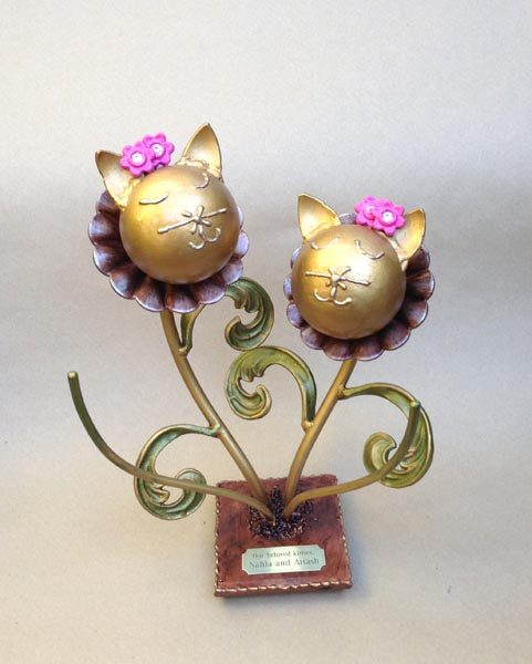 companion cat urns flower kitty double