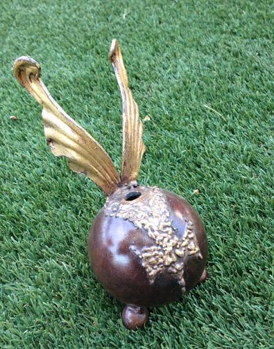gold leaf pet urn