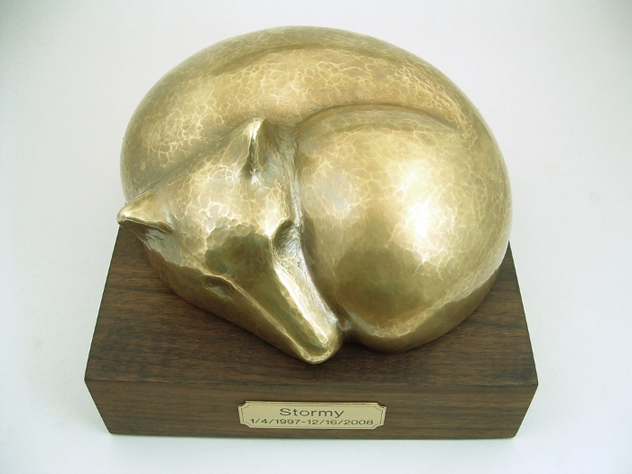 funeral urn for dogs walnut