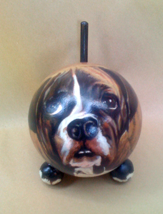 The Painted Puppy Urn 24