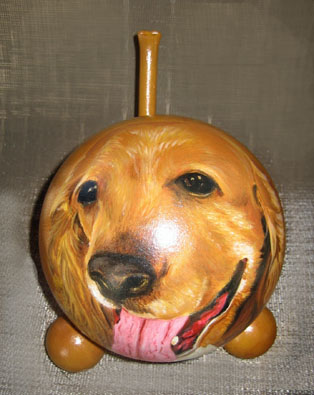 The Painted Puppy Urn 10