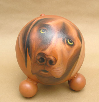 The Painted Puppy Urn 16