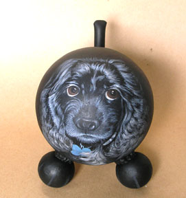 The Painted Puppy Urn 4