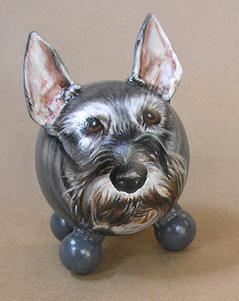 The Painted Puppy Urn 3