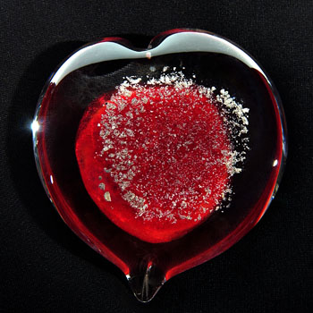 Keepsake Glass Heart Urns