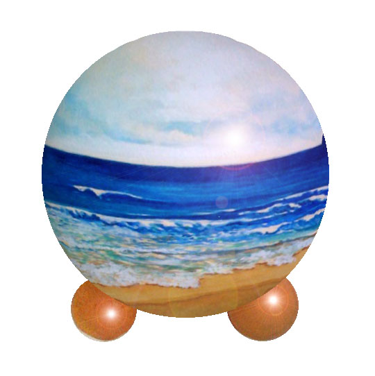 hand painted sculpture pet urn