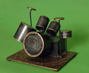 drum set cremation urn